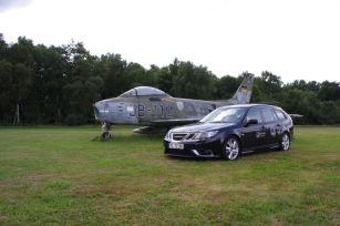SAAB en vliegtuig
