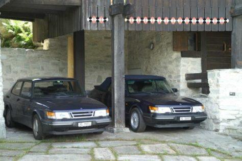 """Saab 900-familjen som förenar """"blues""""."""