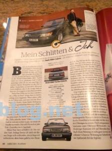 Saab 900 en Playboy.