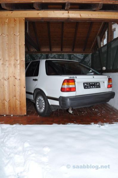 No inverno: deslocamento entre o hangar e o hall 2.