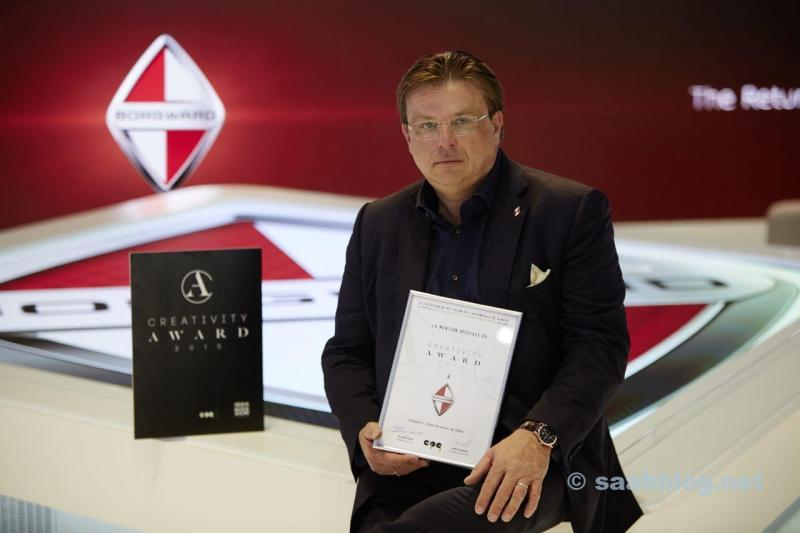Karlheinz L. Knöss, Vicepresidente y CEO Borgward AG. Imagen: obs / BORGWARD AG