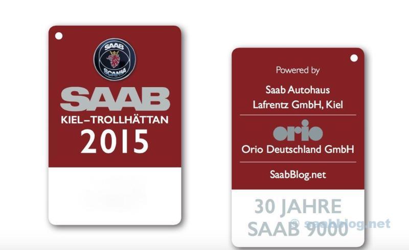 Saab Name Plates