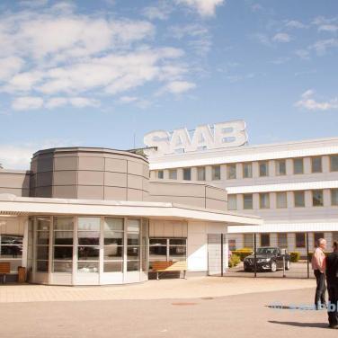 The SAAB factory main gate.