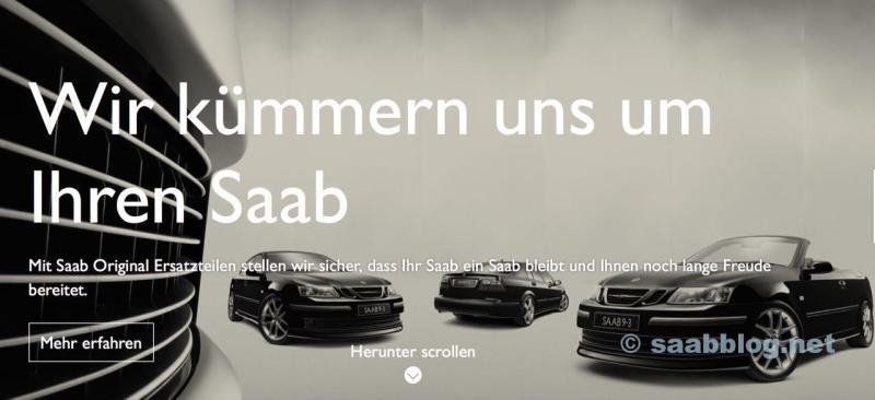 Orio com o novo site da Saab