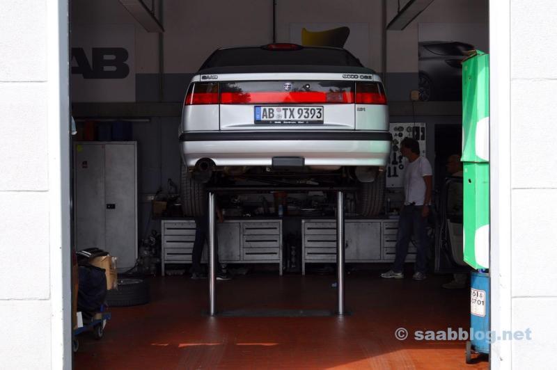Saab 9000 Boxenstop in Frankfurt