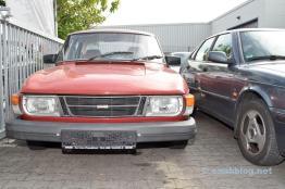 Saab 99, Scheuenfund. Viene fornito con la targa H sulla strada.
