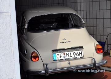 Saab 96 V4 bei Saab Service Frankfurt.