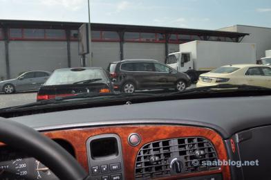 2 x Saab 9000 unterwegs, Saab 9-5 NG Taxi.