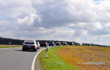 Saabs a caminho da Saxônia