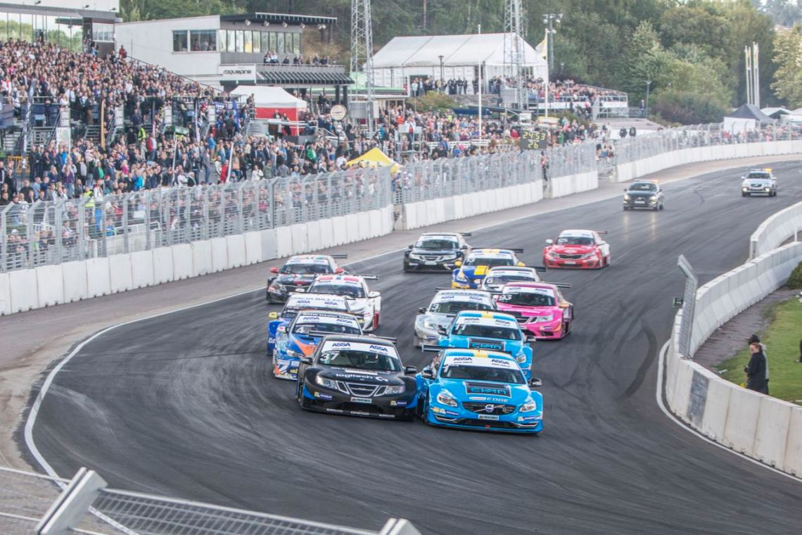 STCC Lauf Solvalla. Bild: Cyan Racing