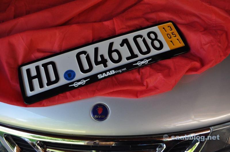 """Saab Kennzeichenhalter """"saabblog.net!"""