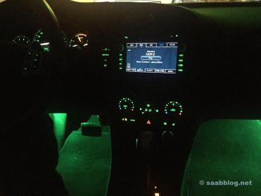 Luz ambiental Saab 9-3. Original Saab Kit.