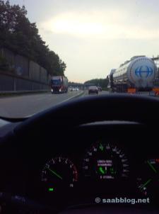 Saab 9-5 NG BioPower, Autobahn bei Hamburg