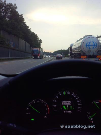 Saab 9-5 NG BioPower, autoroute près de Hambourg