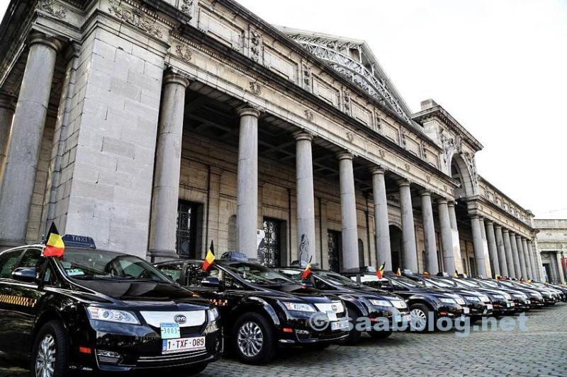 BYD taxi flottan i Bryssel