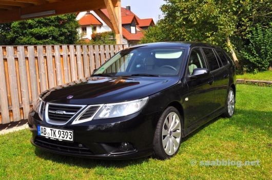 "Saab 9-3 Sportkombi auf 18"" Turbinen"