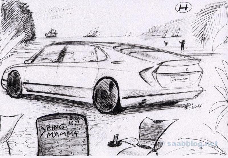 Saab 9000 Nachfolger. Design Bjoern Envall