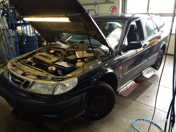 Пол в мастерской Saab в Киле