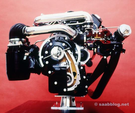 Erster Saab Turbo Motor
