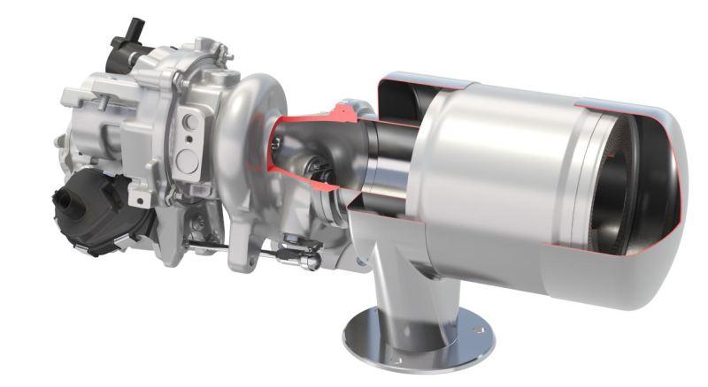Kontinentalkatalysator med turboladdare.