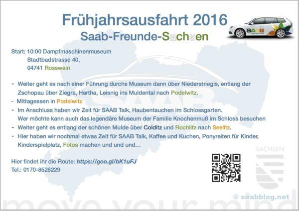 Flyer Fruehjahrsausfahrt SAAB Amigos Saxônia