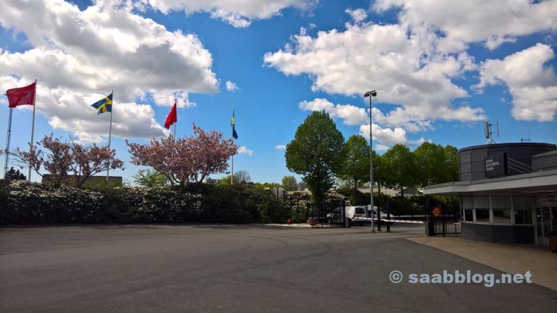 Gestern: Saab Werk Haupteingang