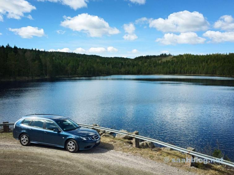 Saab 9-3, unterwegs in Schweden