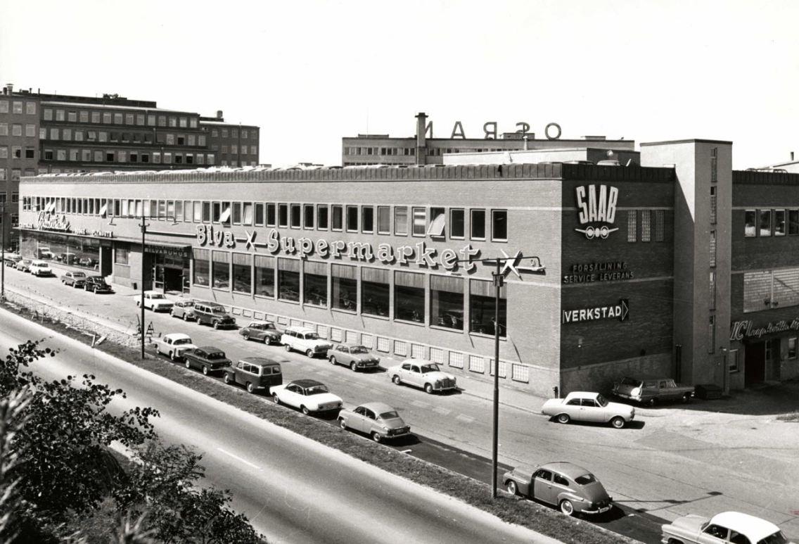 Saab Supermarkt 1967. Foto: Hamburger Genossenschaftsmuseum