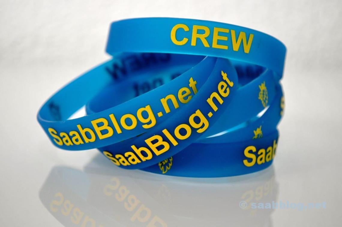 Braceletes da equipe Saabblog.net