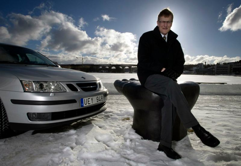 Jan-Åke Jonsson and Saab 9-3. Image: Saab Automobile AB