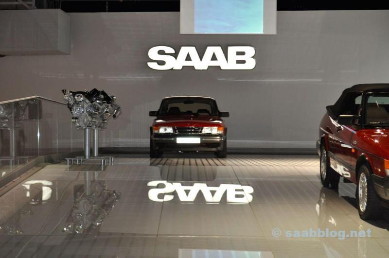 Saab Museum. Mechaniker Ausbildung von Orio im Workshop.