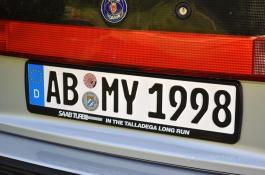 Talladega Turbo Edition Kennzeichenhalter