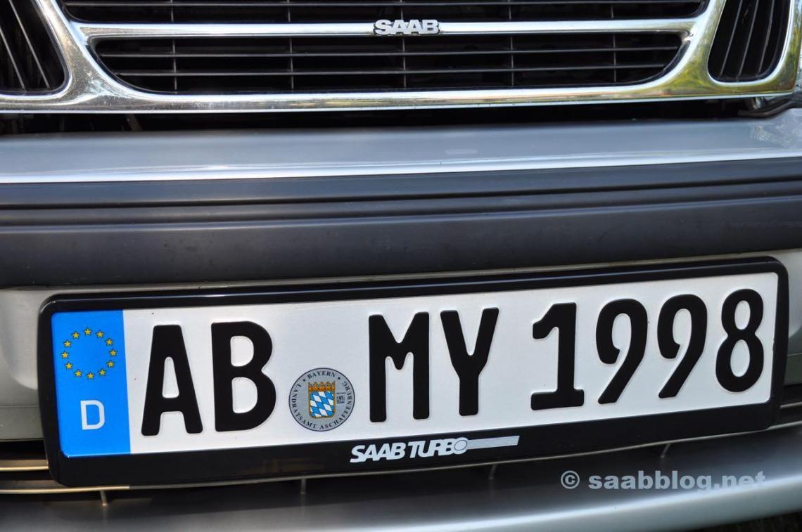Saab Talladega Turbo Edition skylthållare