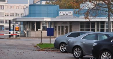 Saabs huvudportal. Hösten 2011.
