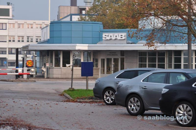 Saab Werk Hauptportal. Herbst 2011.