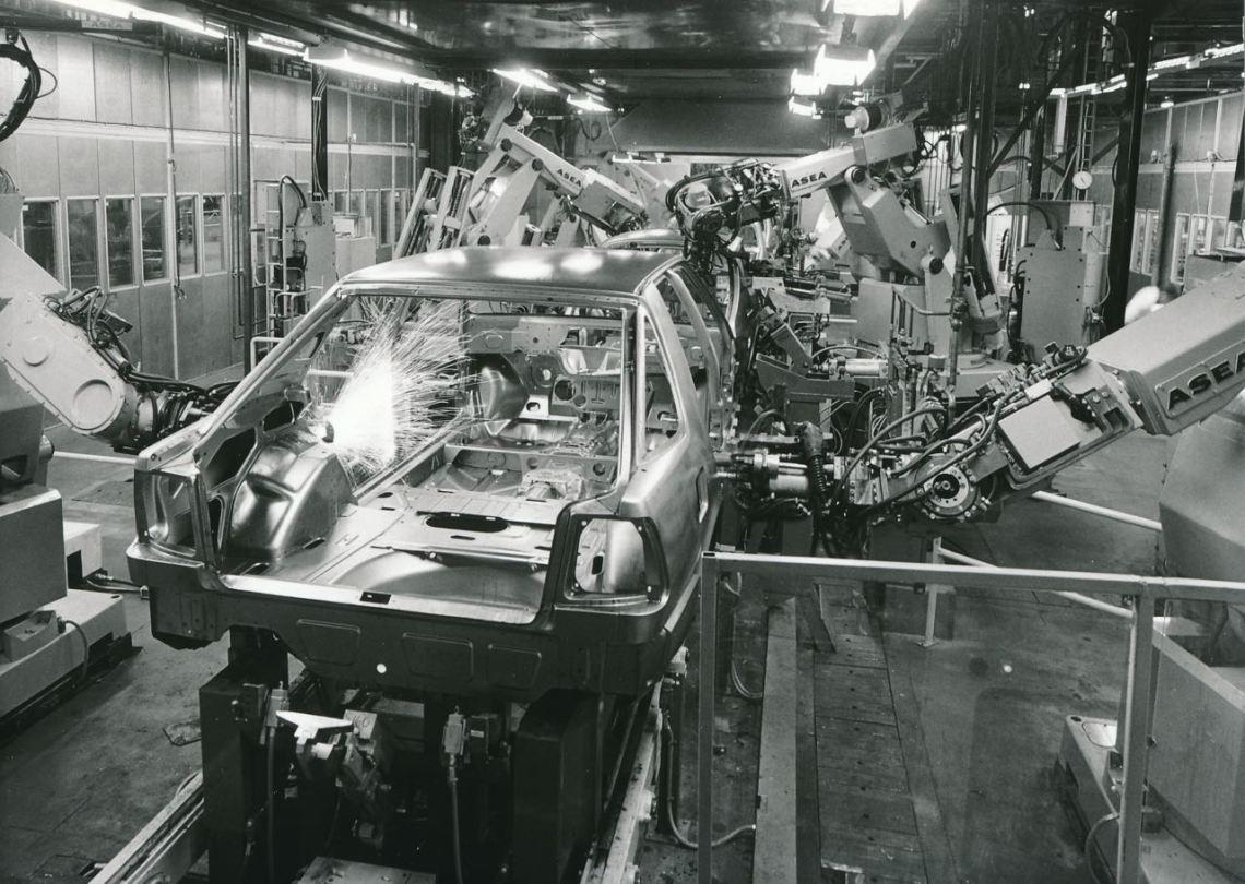 Der erste Tech-Saab. Saab 9000 Produktion.
