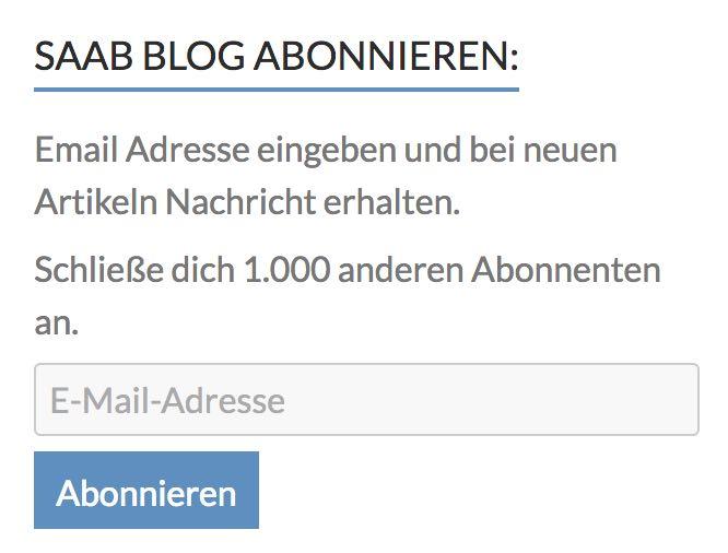 1.000 Abonnenten! Wow!
