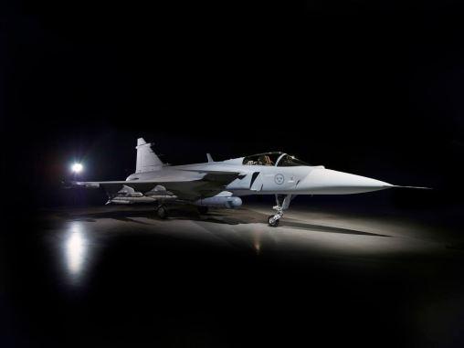 Le nouveau Saab Gripen E ... Image: Saab AB
