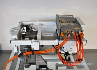 Unidade de acionamento do NEVS 9-3 EV para o mercado chinês.