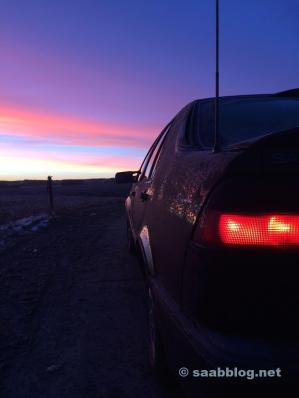 Saab 9000 im Morgengrauen