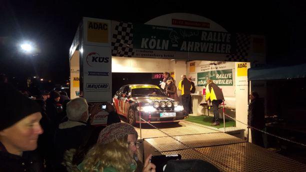 Sieg auf der Rallye Köln Ahrweiler belohnt. Bild: J. Grobusch