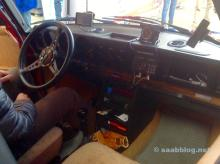 View into the Saab 99 cockpit