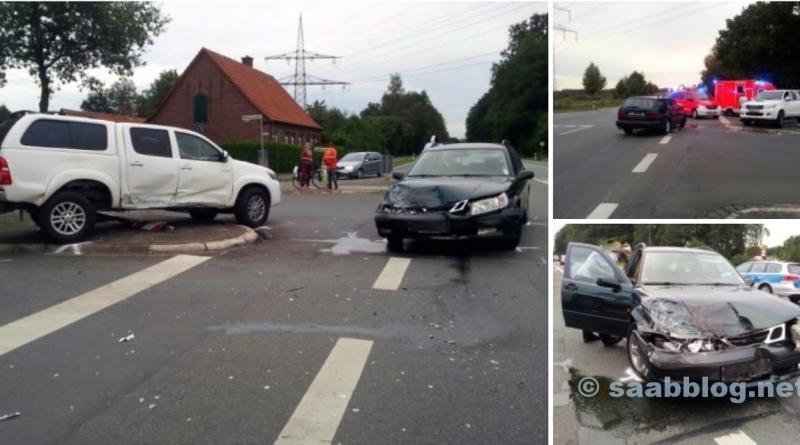 Saab vs. Toyota. Ein Saab 9-5 als Lebensretter