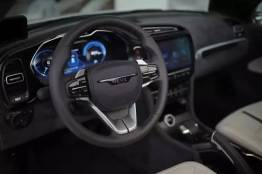 Digitale cockpit, conventionele handremhendel. Afbeelding: NEVS