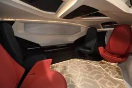 Een mobiele, volledig autonome lounge. Afbeelding: NEVS