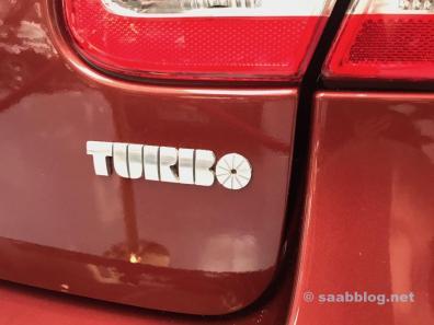 Turbo Schriftzug. Original 70er Jahre.