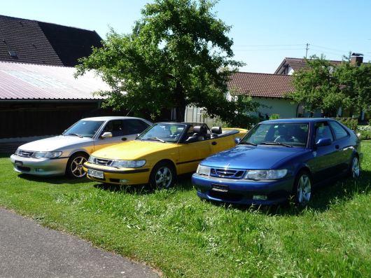 Die Saab 9-3 3er Bande von Hans. Foto: Hans