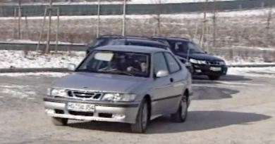 Saab 9-3 and 9-5 Aero on the Boxberg route