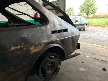 Der ausgebrannte G20 Saab. Bild: Scandic Ferrum