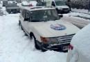 Saab 900 en la nieve